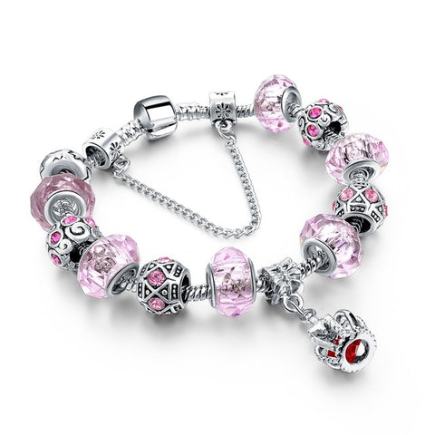 New Silver Color Charm Bracelet For Women