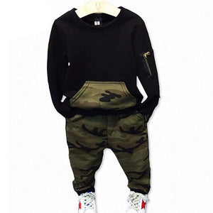Camouflage Kids Tracksuit For Boys