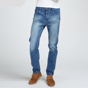 New Men's Elastic Cotton Jeans