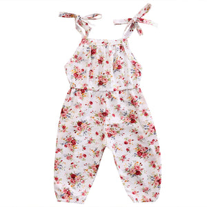 Casual Cotton Sleeveless Floral Halter Sling Romper 0 - 2 Years