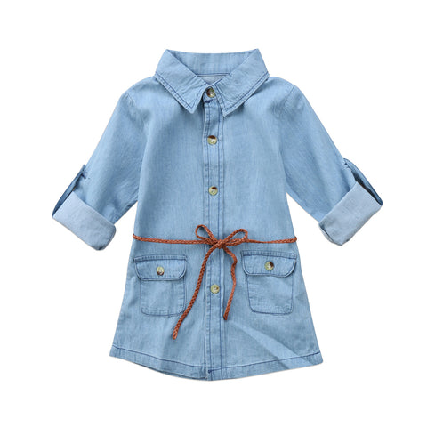 Denim Short Mini Dress 2 - 6 Years