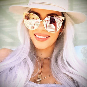 Fashion Oversize Cat Eye Sunglasses - Trendy Fashionista Inn
