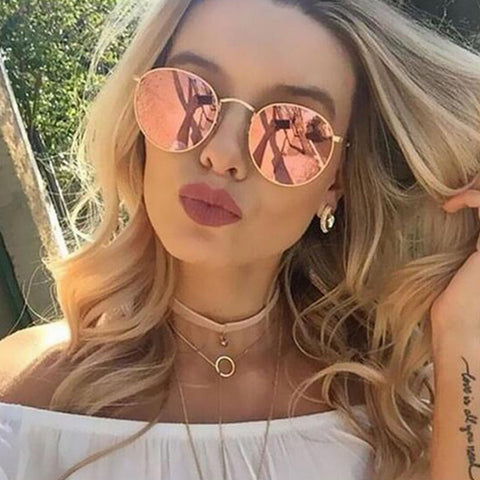 WISH CLUB 2018 Retro Round Sunglasses - Trendy Fashionista Inn