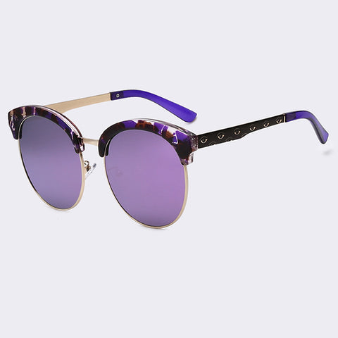 Women Classic Semi-Rimless Sunglasses - Trendy Fashionista Inn