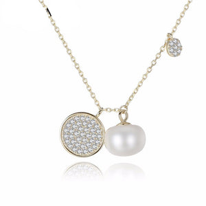 Beautiful Fresh Water Pearl & Silver  Pendant Nacklace