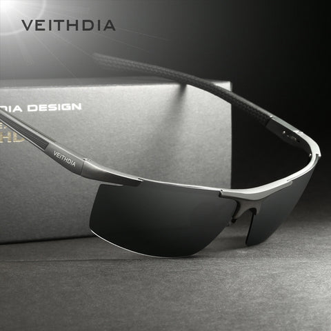 VEITHDIA Aluminum Magnesium Men's Sunglasses - Trendy Fashionista Inn