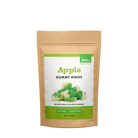 """CBD WORKS"" Apple Gummy Rings 500mg"