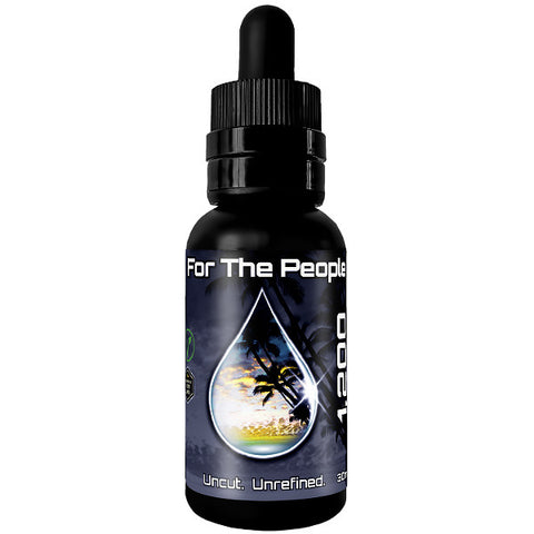 """FOR THE PEOPLE"" Dark CBD Tincture (1,200MG) 30ML Bottle"