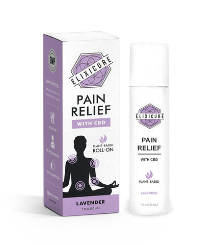 """ELIXICURE"" Lavander  Pain Relief Roll-On"