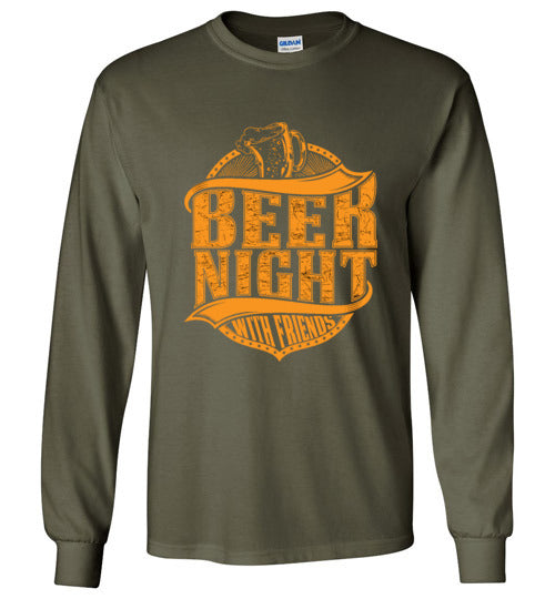 Beer Night with Friends Unisex Long Sleeve