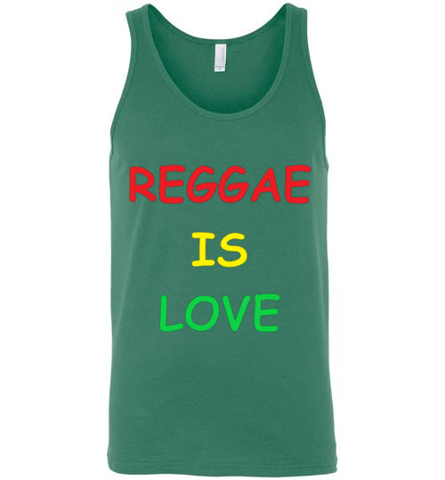 Reggae is love Men's Tank Top