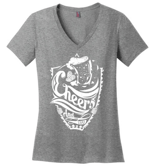 CHEERS Women's V-Neck Tee