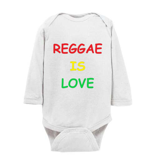 Reggae is love Infant Long Bodysuit