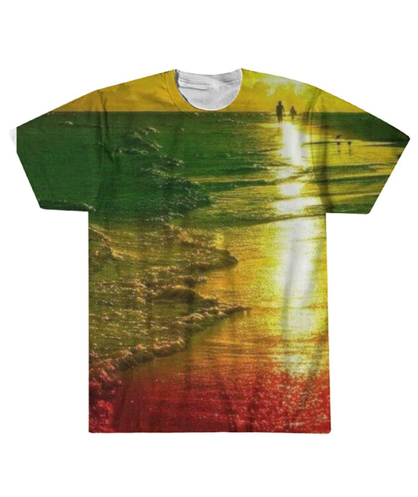 Rasta Beach Life Sublimation Tee