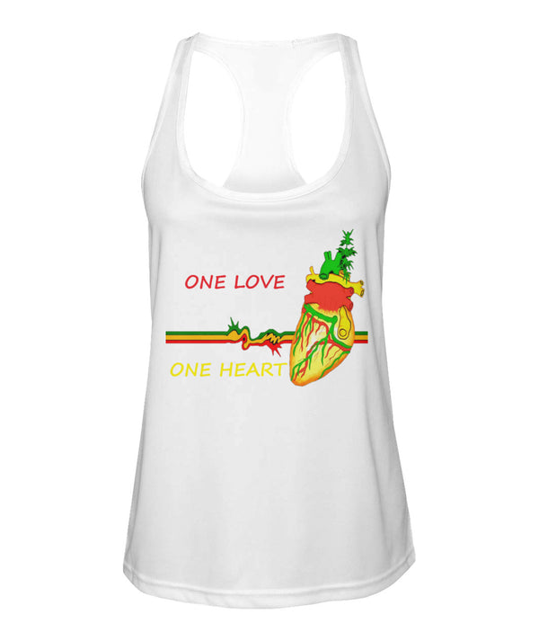 One Love, one heart Women's Racerback Tank