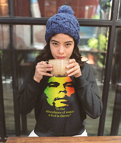 "Unisex Bob Marley ""A fool is thirsty"" Long Sleeve"
