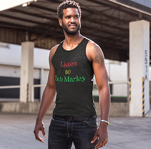 Men's Listen to Bob Marley Tank