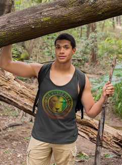 Men's IVG Rasta Lion Medallion Tank Top