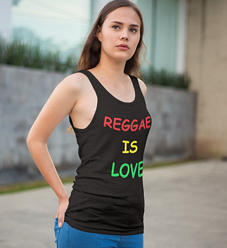 Reggae is love Women's Tank Top