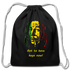 KAYA Cotton Drawstring Bag - black