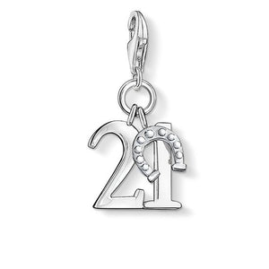 "THOMAS SABO CHARM PENDANT ""LUCKY NUMBER 21"""