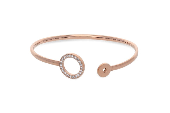 Qudo Interchangeable Bangle CASSINE/ Rose Gold Plated
