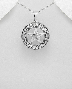 Celtic Pentagram 925 Sterling Silver Pendant