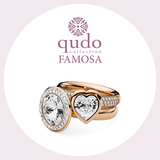 Qudo Interchangeable basic ring deluxe /rose gold