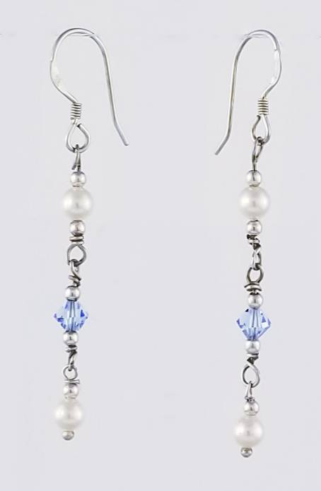 Swarovski Pearls  & Crystal Earrings