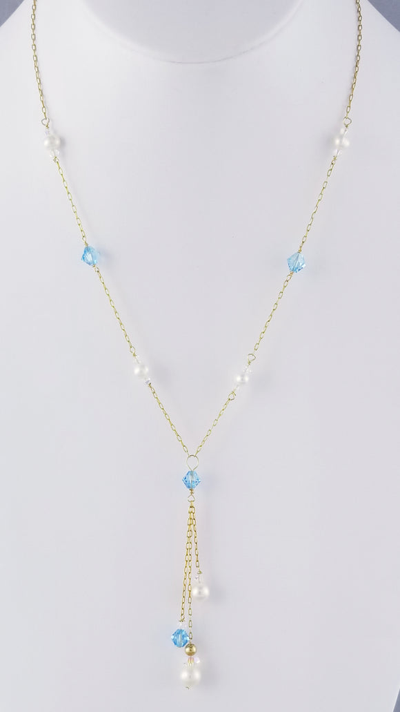 Swarovski Pearls  & Crystal, Freshwater Pearls Necklace