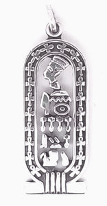 Egyptians Cartouche Sterling Silver Pendant