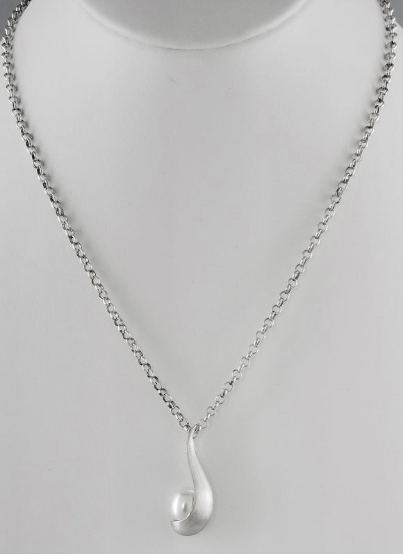 Misaki Cultured pearl Sterling Silver Necklace