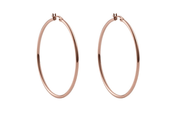Qudo Earring Creole VALENTANO / Rose Gold plated