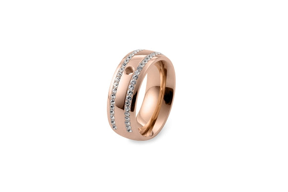 Qudo Interchangeable ring lecce /rose gold