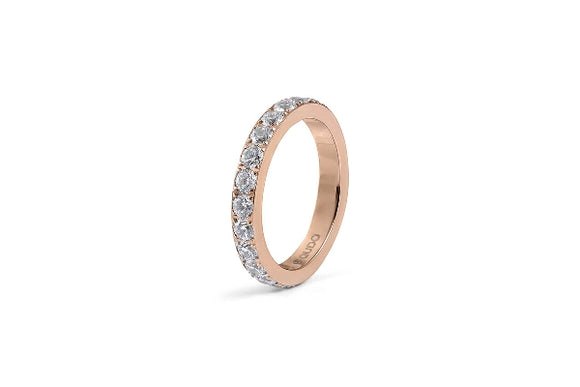 Qudo INTERCHANGEABLE Ring ETERNITY big / Rose Gold Plated