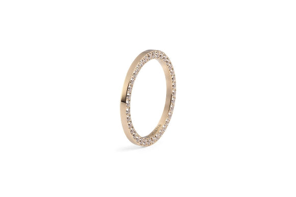 Qudo Interchangeable Ring SIENA / Gold Plated