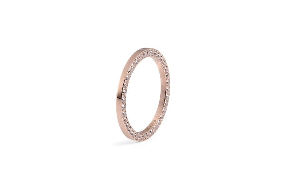 Qudo Interchangeable Ring SIENA / Rose Gold Plated