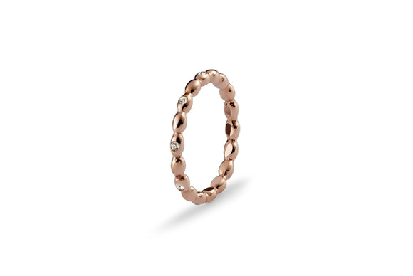 Qudo Interchangeable Ring BISENTI / Rose Gold Plated