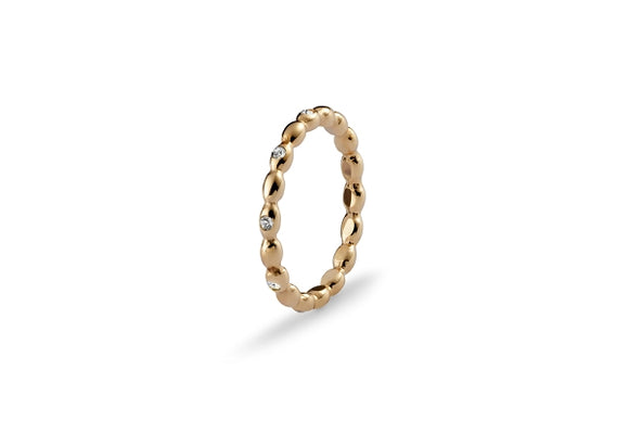Qudo Interchangeable Ring BISENTI / Gold Plated