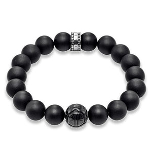 "THOMAS SABO RING REBEL AT HEART BRACELET ""OBSIDIAN"""
