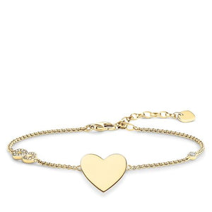 "THOMAS SABO BRACELET ""HEART WITH INFINITY"" ENGRAVABLE"