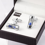 Hourglass Cufflinks French Shirt With Gift Box