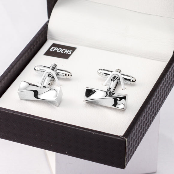 Twist Cufflinks French Shirt With Gift Box
