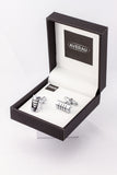 Silver Half Cylinder Cufflinks French Shirt With Gift Box