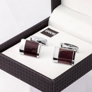 Enamel cufflinks French Shirt With Gift Box