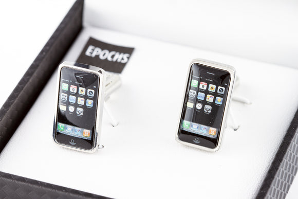 Cell Phone Cufflinks French Shirt With Gift Box