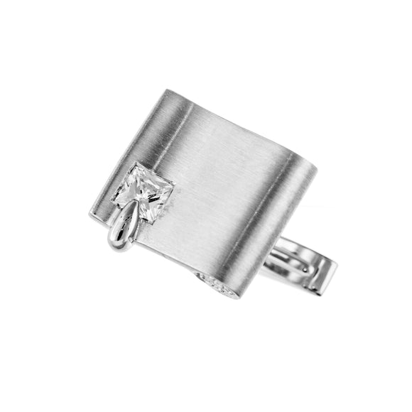 Sterling Silver 925 with CZ Reverie Cufflinks French Shirt With Gift Box