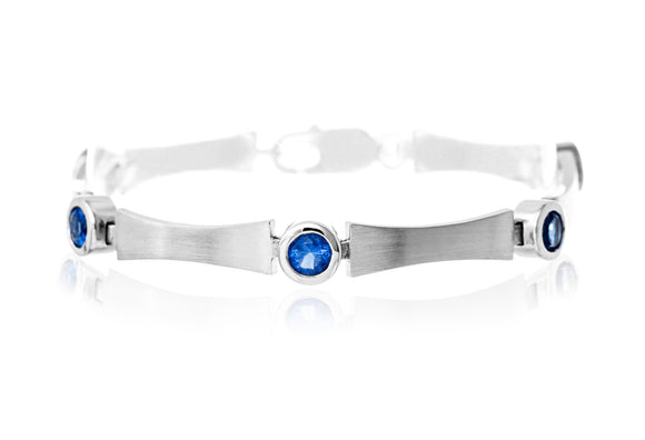 Brushed  CZ Sterling Silver Reverie Bracelet