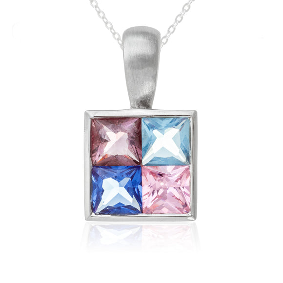 Polished CZ Sterling Silver Pendant Reverie
