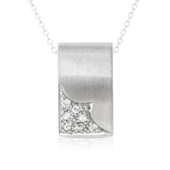 Polished Round CZ Sterling Silver Pendant Reverie